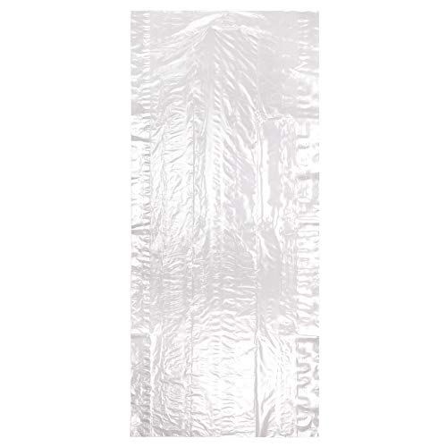 Hangerworld 50 Fundas 114cm Protección de Ropa en Polietileno Trasparente Antipolvo Grosor 0,020mm