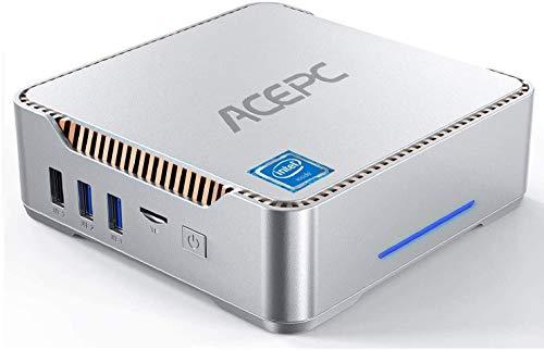 Mini PC, AK3 Intel Celeron J4125, 6GB RAM+120GB ROM, Windows 10 Pro Mini Computer Desktop,Supporto 2.5'' SATA SSD/HDD, Dual WiFi 2.4 / 5G,Bluetooth 4.2,4K HD,2 HDMI+1 VGA+USB 3.0