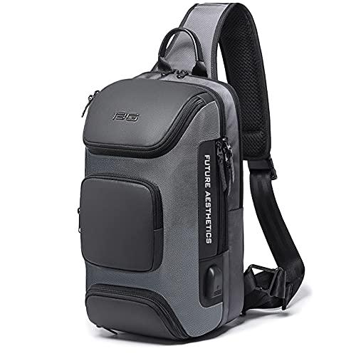 Sling Bag Shoulder Crossbody Bags for Men Women Sling Backpack with USB Charging Port Waterproof...