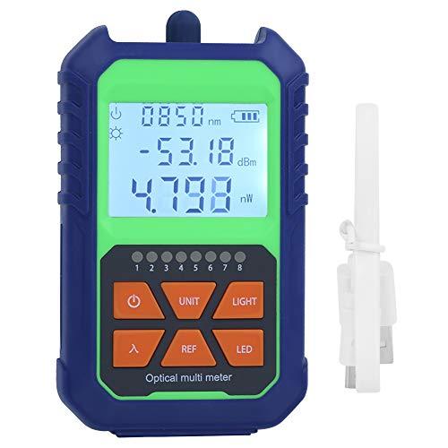 Medidor de potencia óptica, carcasa de plástico identificar con precisión el medidor de fuente de luz para electricista para el hogar fibra óptica para el probador de cable