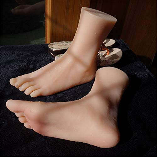 Foot Fetishes, A copy of the silicone foot, 36A real size feet, high simulation female foot model, suitable for shoes and jewellery shooting,right foot