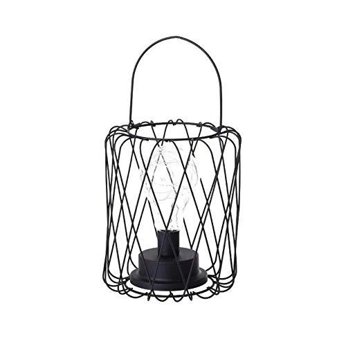 Eisen geometrische Form Tischlampe Lampe Schatten Laterne Diamant Kronleuchter für Cafe Esszimmer Schlafzimmer Kupferdraht Lampe