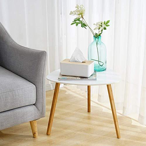 Verstellbarer Kleiner Couchtisch, Nachttisch runder Kleiner Tisch Schlafzimmer Wohnzimmer Sofa Frühstückstisch Computertisch drehbar (Farbe: Weiß, Größe: 40 * 40 * 40 cm)