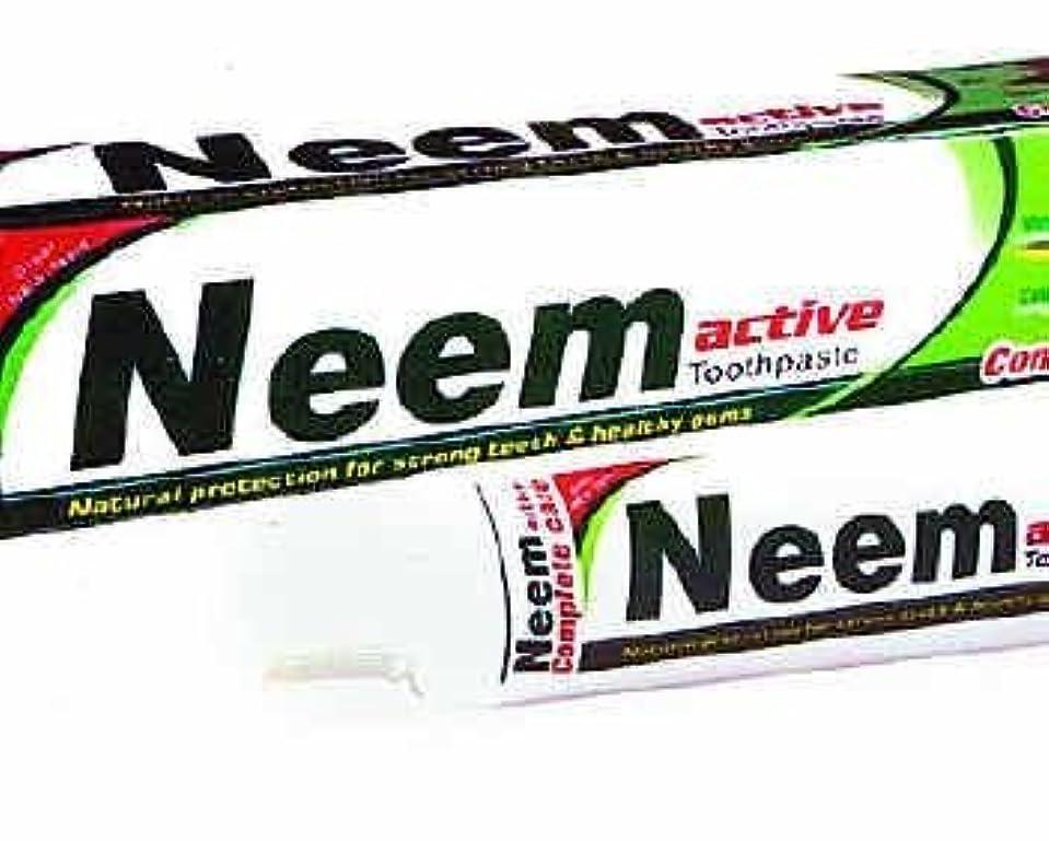 アルバニー存在トレーダーNeem Active Herbal Toothpaste 125g - Natural Protection for Strong Teeth & Healthy Gums by Crazee Deal