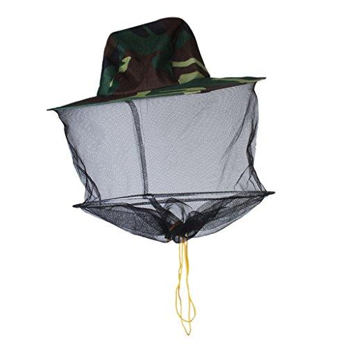 Gazechimp Chapeau Protection Casque de Filet Anti Moustique Insecte Abeille Protecteur de Face Tête