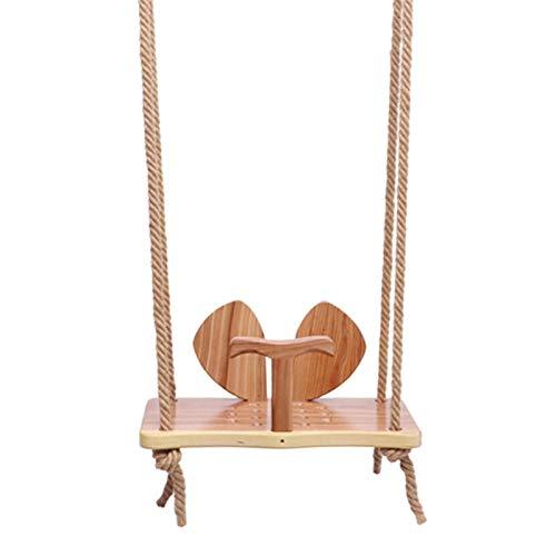 Lilangda Asiento para orejas de madera maciza, columpio de madera de pino al aire libre, suave y novedoso árbol de jardín para exteriores, columpio de madera para adultos, niños, niños