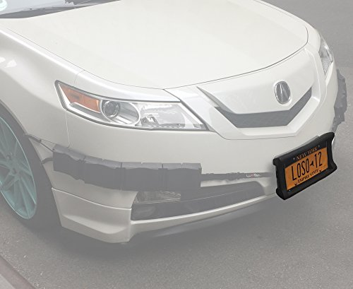 Luv-Tap Bumper Thumper Ultimate Complete Coverage Front Bumper Guard Shock Absorbing Flexible License Plate Frame Protection System (License Plate Frame ONLY)