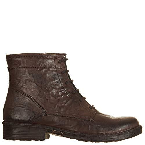 Viale- Zapatos polacos de Mujer Khriò, marrón, con Cremallera y Cordones, Suela de Goma