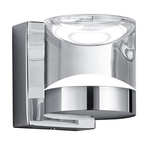 Trio Leuchten LED Bad Wandleuchte 282710106 Brian, Metall chromfarbig, Acryl klar, 3.6 Watt LED