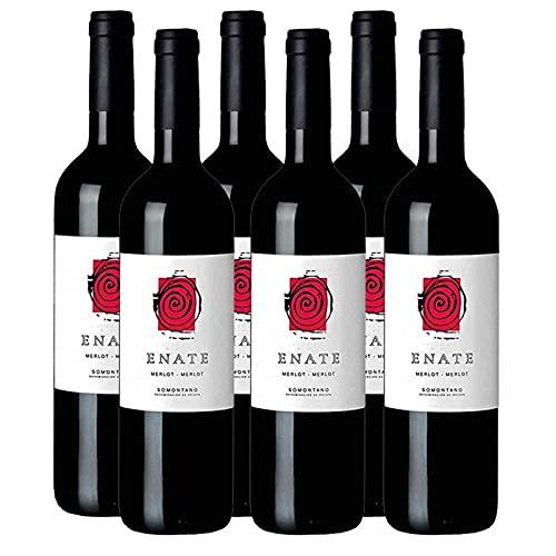 Vino Tinto Enate Merlot-Merlot de 75 cl - D.O. Somontano - Bodegas Enate (Pack de 6 botellas)
