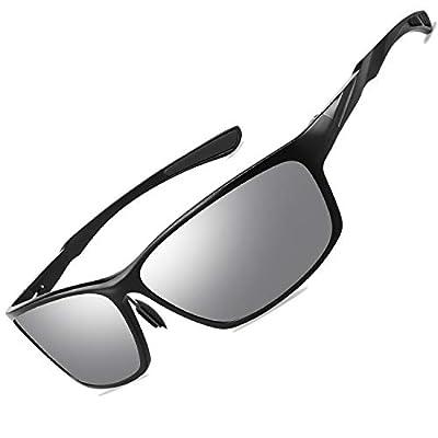 VEOAY Polarized Sunglasses for Men and Women, Al-Mg Metal Frame Ultra Light 100% UV Blocking Sports Sun glasses(color012)
