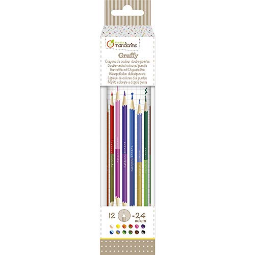 Avenue Mandarine CC032O - Un tube de 12 crayons double pointes