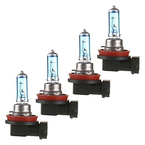 Mintice™ 4 X Véhicule de voiture Lumineux H11 55W 6000K Xénon Gaz Halogène Ampoules de lampe de projecteur blanc