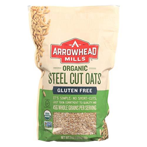 Arrowhead Mills Organic Gluten Free Steel Cut Oats, 24 Ounce Box (Pack Of 6)