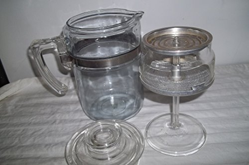 6 Cup Pyrex Coffee Pot with Buckle Band