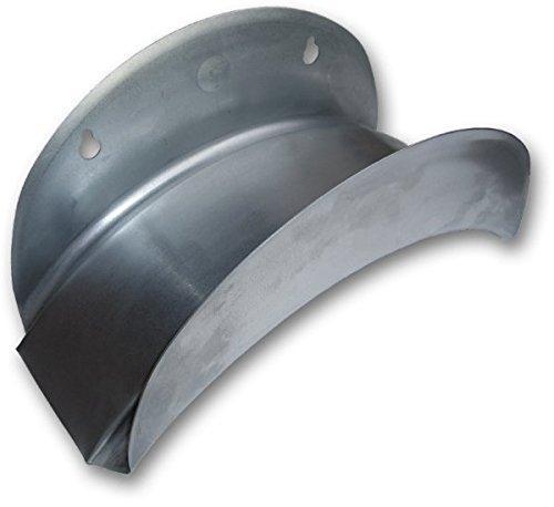 rg-vertrieb Wandschlauchhalter Schlauchhalter Metall Silber Gartenschlauch Wandhalter