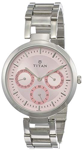 Titan Youth Analog Pink Dial Women's Watch -NK2480SM05