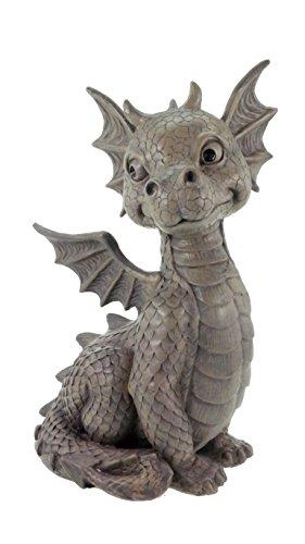 Statue de dragon de jardin assis