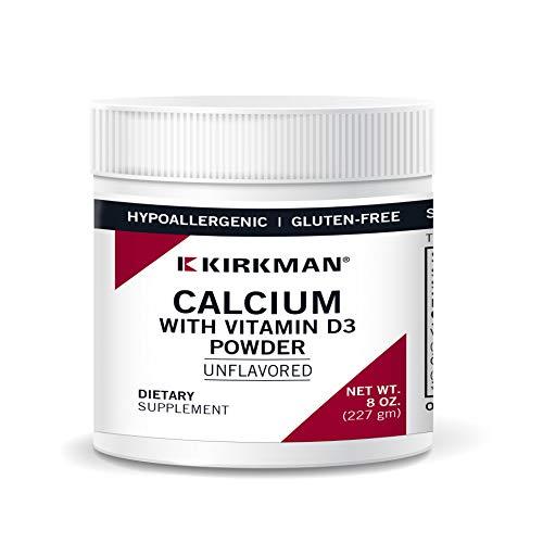 Calcium w/Vitamin D-3 Powder (Unflavored)- 8 oz by Kirkman Labs