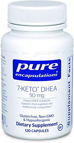 Pure Encapsulations - 7-Keto DHEA 50 mg - Unique DHEA Metabolite to Support Thermogenesis and Healthy Body Composition - 120 Capsules*