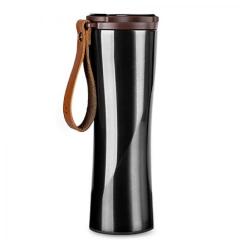 DAMAIFENG Termo Botella de Agua Acero Inoxidable Inteligente Térmico al Vacío 15 Onzas Termo Funtainer Café Taza de Viaje Regalos para Amigos, Padres, Socios, Niños
