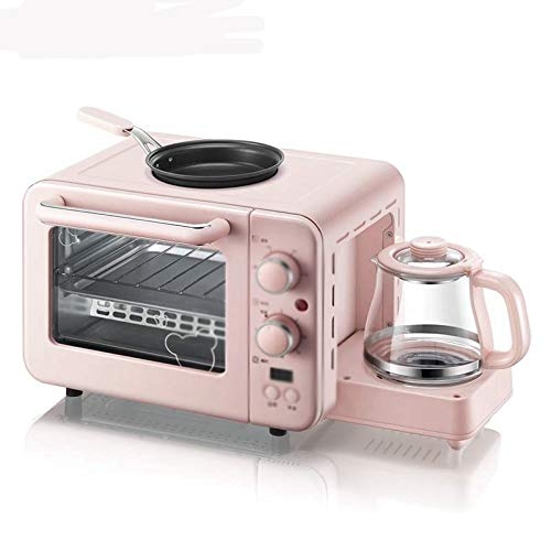 JYDQB Multifunción 3 en 1 Máquina desayuno 8L eléctrico Mini Horno Cafetera huevos sartén Hogar Pan Horno de Pizza Grill