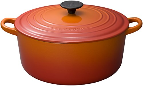 Le Creuset Signature Flame Enameled Cast Iron Round French Oven, 7.25 Quart