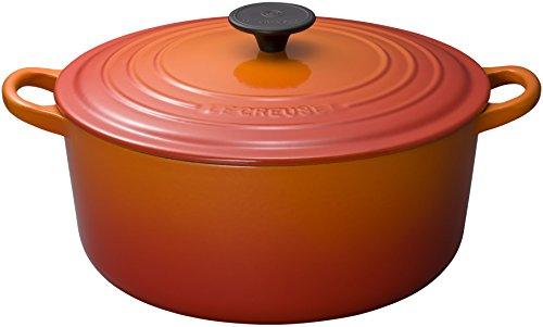ル・クルーゼ(Le Creuset) 鋳物 ホーロー 鍋 ココット・ロンド 28 cm オレンジ ガス IH オーブン 対応 【日本正規販売品】