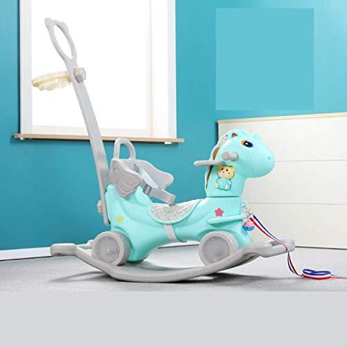 Schaukelpferd Trojan Kind-Baby-Spielzeug Rocking Car doppelten Zweck Baby-Yo-Yo-Geschenk (Farbe: A2) 8bayfa (Color : A1)