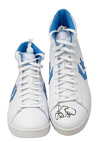 Larry Bird Signed Boston Celtics White Converse High Top Shoe Bird Hologram BAS - Autographed NBA Sneakers