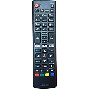 Nuevo Mando de reemplazo para el LG TV AKB75095308 Ajuste para Varios TV Ultra HD de LG con Netflix Amazon Botones 43UJ6309 49UJ6309 60UJ6309 65UJ6309 - No se Requiere configuración Control Remoto