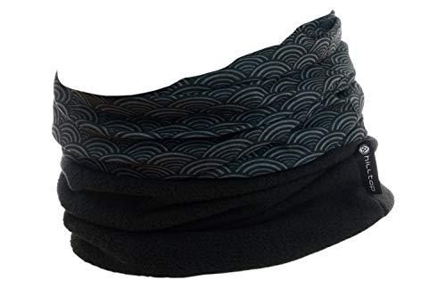WÄRMENDES FLEECE Multifunktionstuch Polar Schlauchtuch das Halstuch für kalte Herbst und Wintertage. aktuelle Farben, Farbe Polar Tuch:schwarz graue ringe