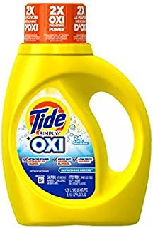 Regular! Tide HE Laundry Detergent With Oxi Liquid Simply Clean & Fresh37.0 oz.(2pk)
