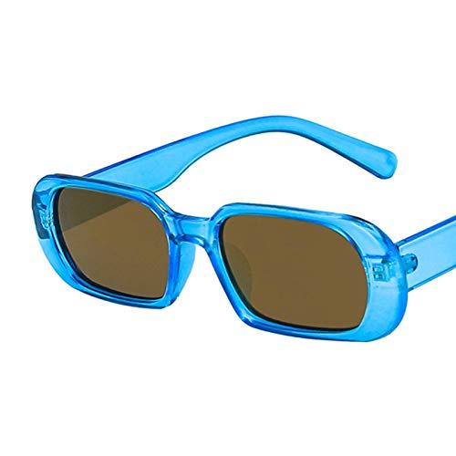 Gafas De Sol Gafas De Sol De Montura Pequeña De Moda para Mujer, Gafas De Sol De Lujo con Lentes De Color Caramelo para Mujer, Sombras para Mujer C3Bluegold