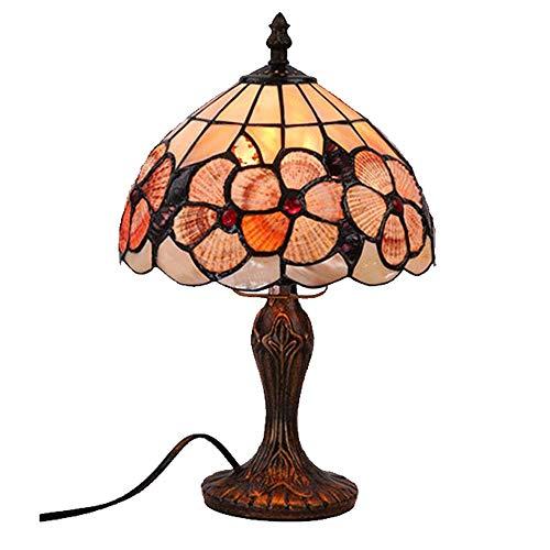 Henley Art Deco - Lámpara de mesa creativa Tiffany de cristal para salón, comedor, dormitorio, mesita de noche, bar, romántica, vintage, lámpara barroca, lámpara de mesa de 8 pulgadas, estilo D
