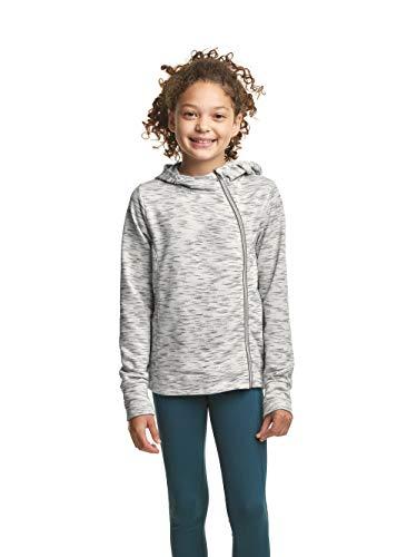 C9 Champion Girls' Fleece Asymmetrical Jacket, Coolest Gray Heather, Small