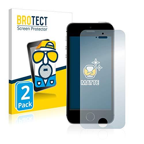 BROTECT 2X Entspiegelungs-Schutzfolie kompatibel mit Apple iPhone SE 2016 Displayschutz-Folie Matt, Anti-Reflex, Anti-Fingerprint