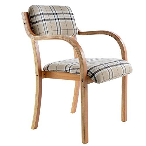 Chaises Chaises de salle à manger Chaises simples Chaises de loisirs Bois massif Tissu Table à manger Chaises Lavable Sédentaire Confortable