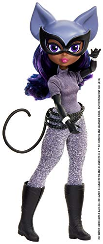 DC Super Hero Girls Catwoman Action Doll (Approx. 10 inch) with Removable Accessories, Wearing Iconic Outfit with True-to-Show Details, Great Gift for 6 – 8 Year Olds