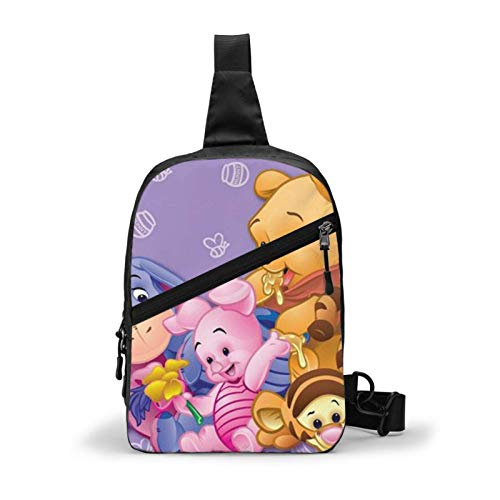 DJNGN Sling Bag, Winnie Crossbody Shoulder Backpack Pocket Day Bag for Travel Hiking Men Women