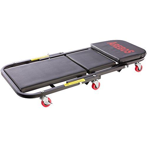 Arebos 2 in 1 Montagerollbrett/Rollbrett bis 150 kg/Sitz- und Liegefunktion / 6 Rollen / 360° Drehbar