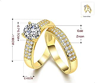 Women ring consists of two rings studded Erstal Size 7