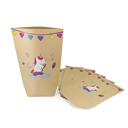 Oblique Unique Einhorn Geschenktüten 6 STK Einhörner Papiertüten Kinder Geburtstag Feste Party