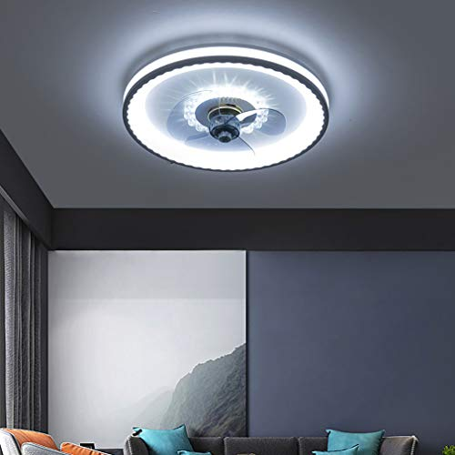 YIWEN Ventilador De Techo Moderno con Lámpara Lámpara De Techo LED Regulable con Control Remoto Ventilador Invisible Silencioso Luz De Techo para Dormitorio
