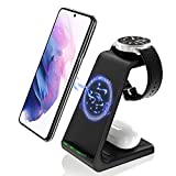GEEKERA Wireless Charger Stand, 3 in 1 Qi-Enabled Wireless