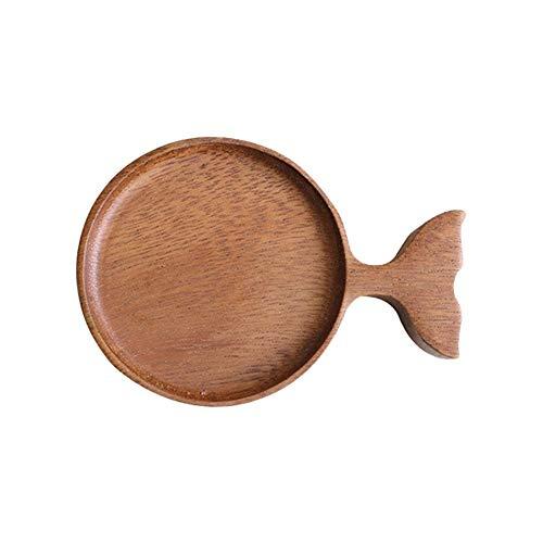 Cartone Animato Creativo Pesce Piatto di Salsa di Legno Piatto di Salsa Giapponese Salsa da Immersione Ciotola per condimento per Feste in Cucina Domestica, per Nachos, Formaggio, Noci, salumi