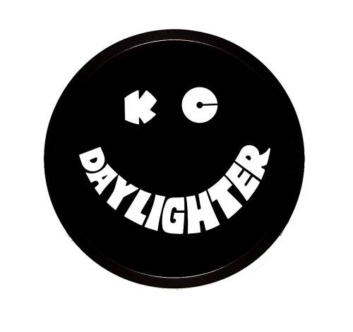 "KC HiLiTES 5200 6"" Round Black Plastic Light Cover w/ White KC Daylighter Logo - Single Cover"