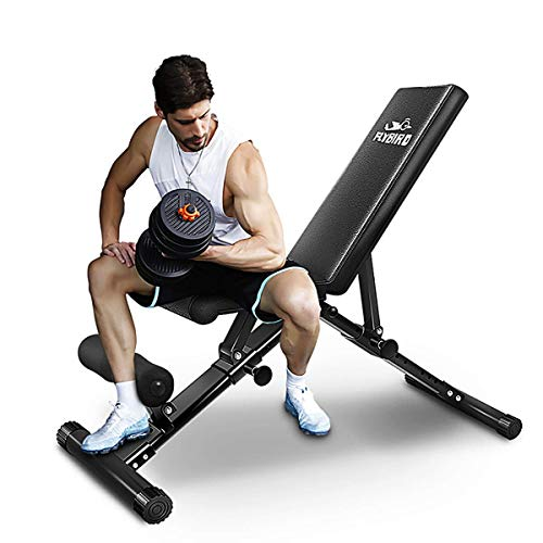 FLYBIRD Weight Bench, Utility Adjustable Bench for Full Body Workout, Multi-Purpose Foldable Incline...