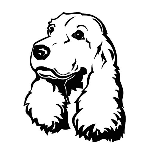 Pegatinas de pared bonitas de perro cachorro favorito, decoración del hogar, sala de estar, ahueca hacia fuera, calcomanía de pared de Cocker Spaniel impermeable para guardería, 44x56cm