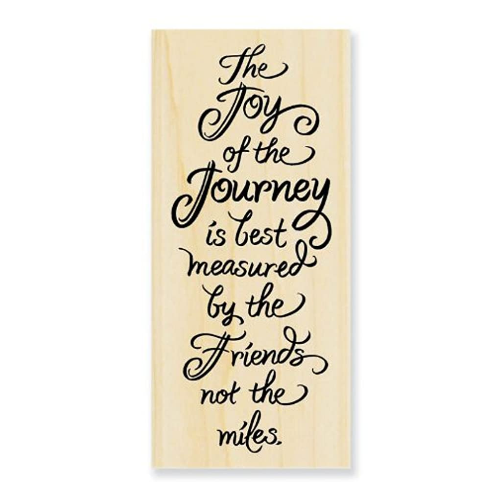 STAMPENDOUS N237 Wood Handle Rubber Stamp, Joy of Journey
